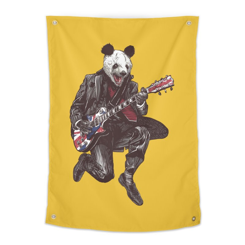 panda guitarist Home Tapestry by gupikus's Artist Shop