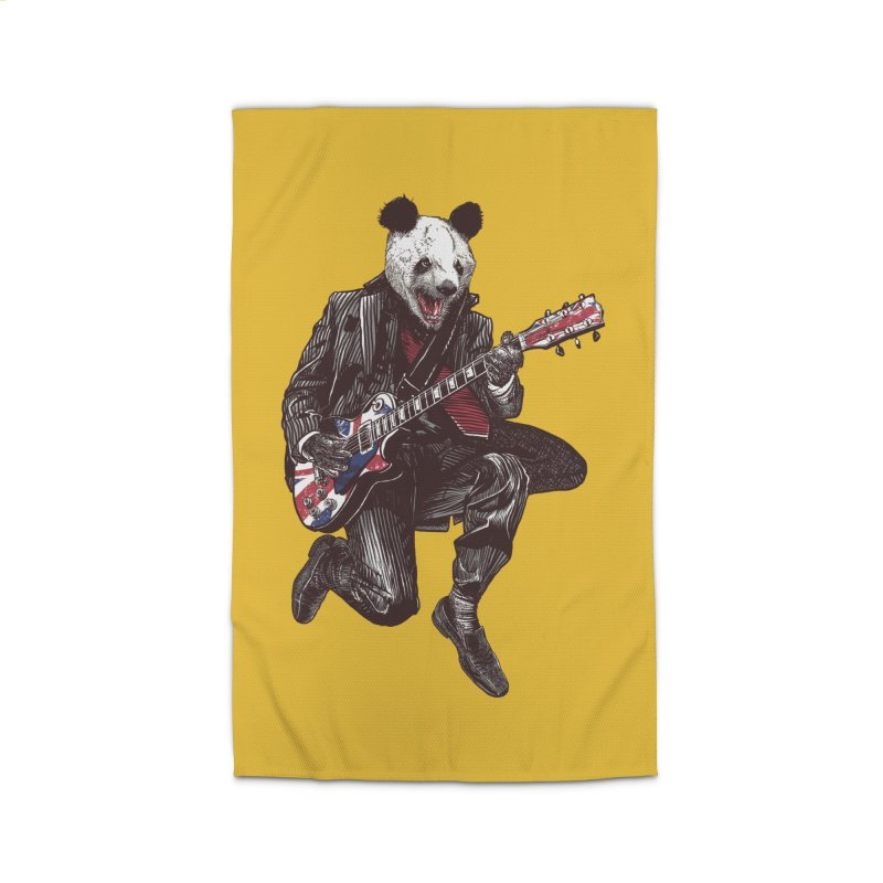 panda guitarist Home Rug by gupikus's Artist Shop