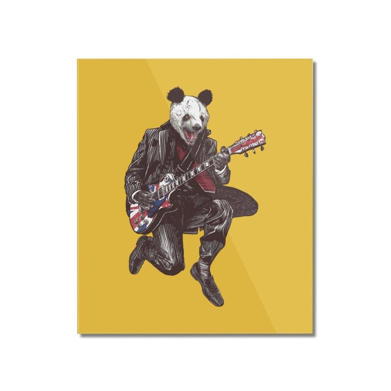 panda guitarist Home Mounted Acrylic Print by gupikus's Artist Shop