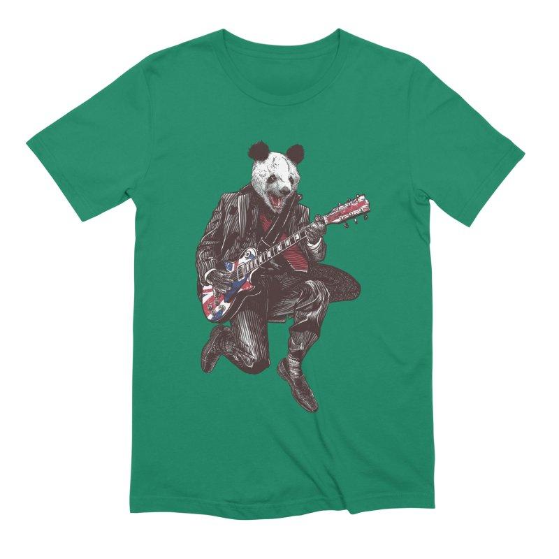 panda guitarist Men's Extra Soft T-Shirt by gupikus's Artist Shop