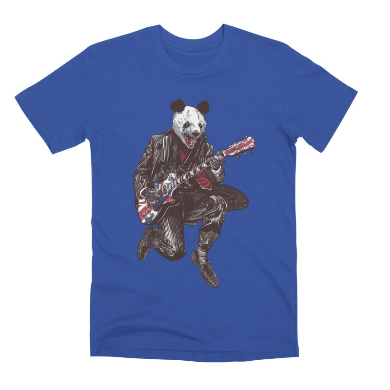 panda guitarist Men's Premium T-Shirt by gupikus's Artist Shop