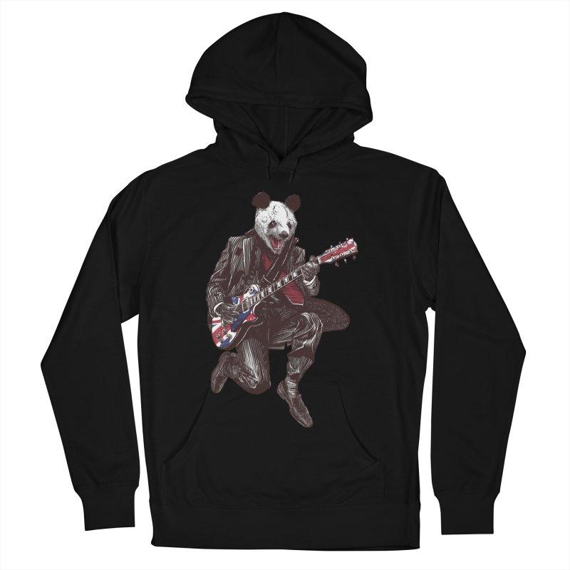 panda guitarist Women's French Terry Pullover Hoody by gupikus's Artist Shop
