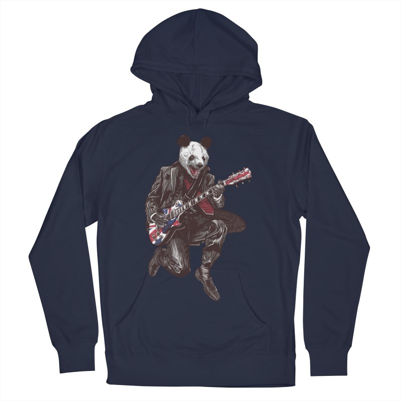 panda guitarist Men's French Terry Pullover Hoody by gupikus's Artist Shop