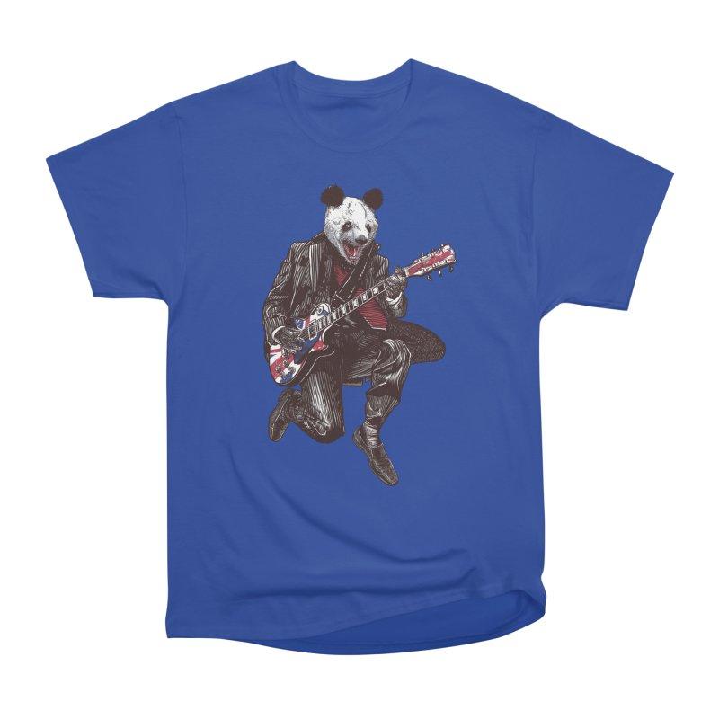 panda guitarist Men's Heavyweight T-Shirt by gupikus's Artist Shop