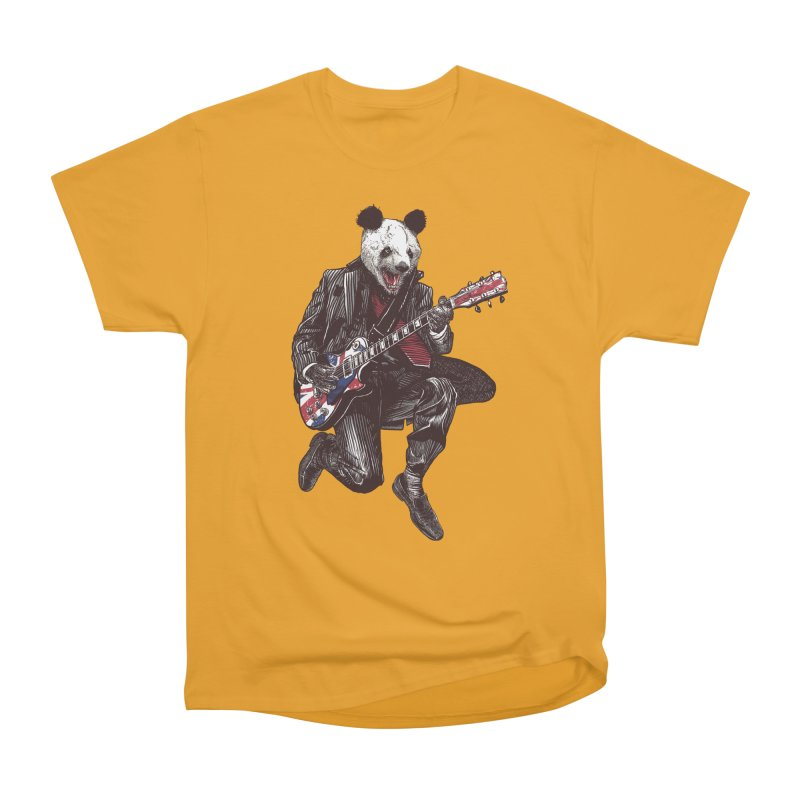 panda guitarist Women's Heavyweight Unisex T-Shirt by gupikus's Artist Shop