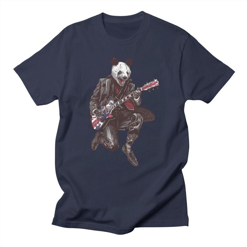 panda guitarist Women's Regular Unisex T-Shirt by gupikus's Artist Shop