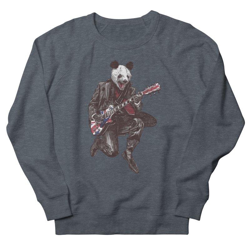 panda guitarist Women's French Terry Sweatshirt by gupikus's Artist Shop