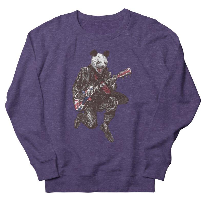 panda guitarist Men's French Terry Sweatshirt by gupikus's Artist Shop