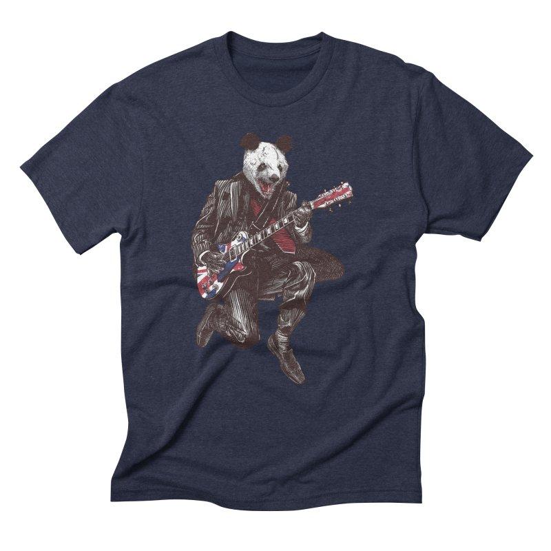 panda guitarist Men's Triblend T-Shirt by gupikus's Artist Shop