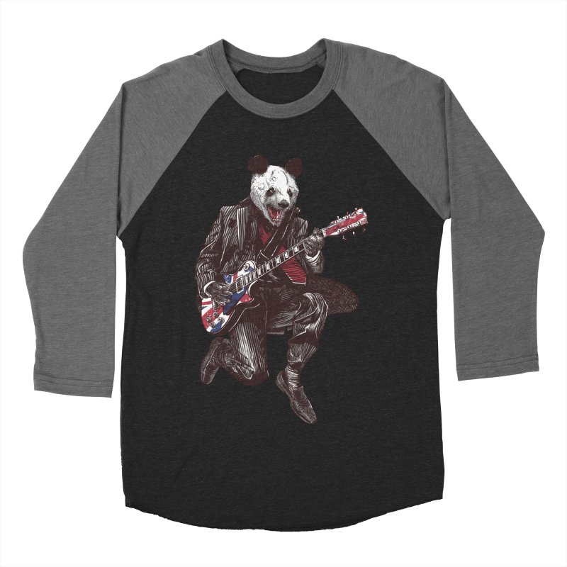 panda guitarist Women's Baseball Triblend Longsleeve T-Shirt by gupikus's Artist Shop