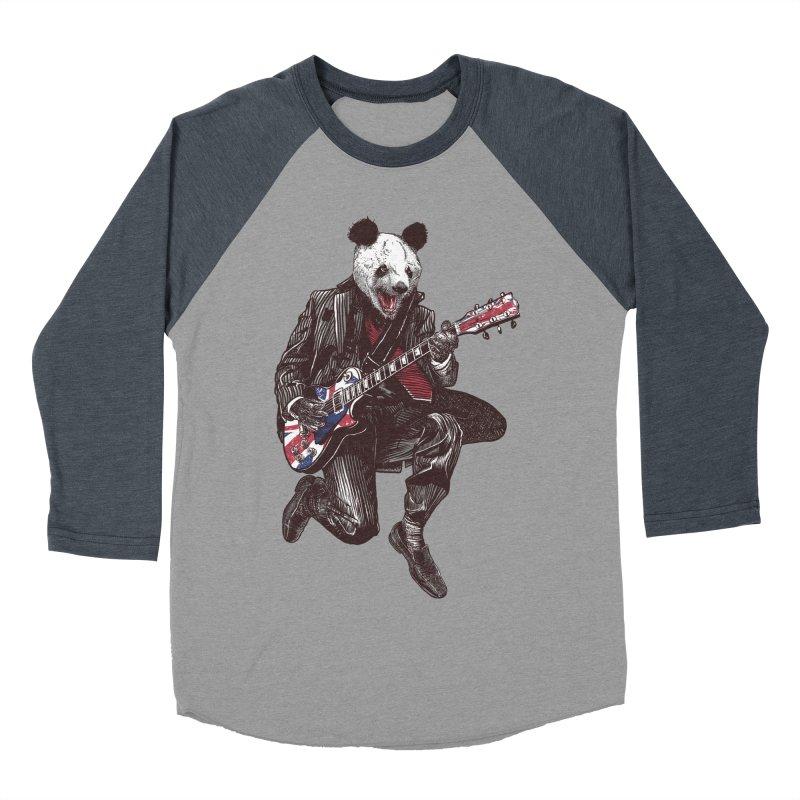 panda guitarist Women's Baseball Triblend Longsleeve T-Shirt by gupikus's Artist Shop