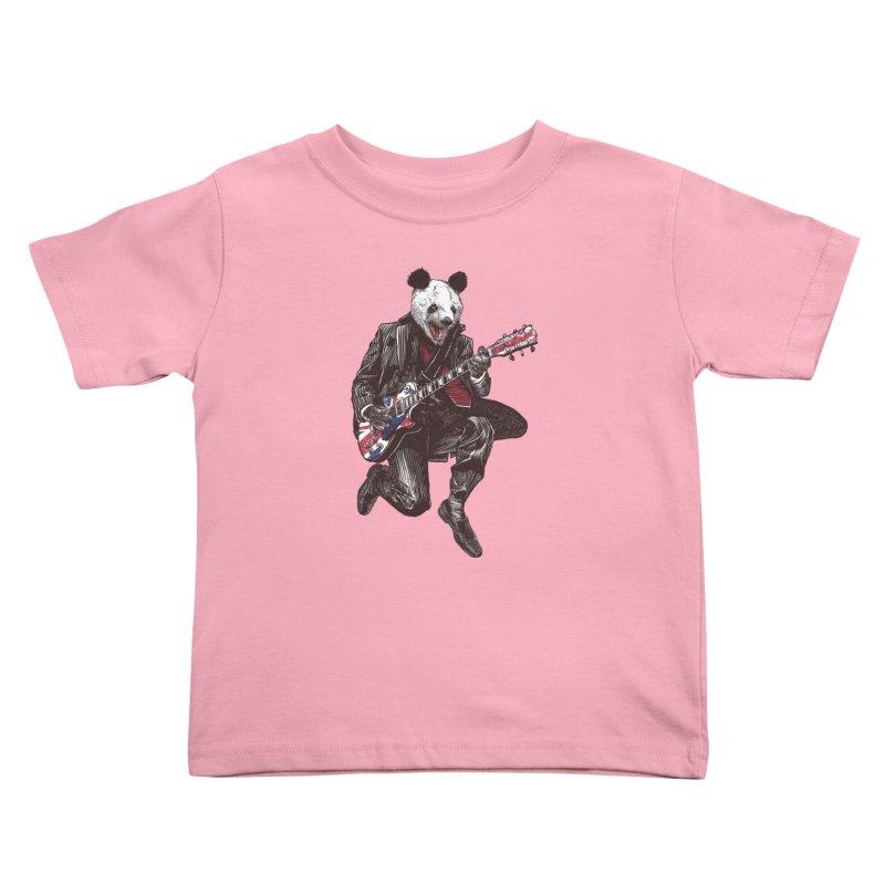 panda guitarist Kids Toddler T-Shirt by gupikus's Artist Shop