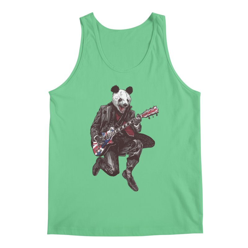 panda guitarist Men's Regular Tank by gupikus's Artist Shop