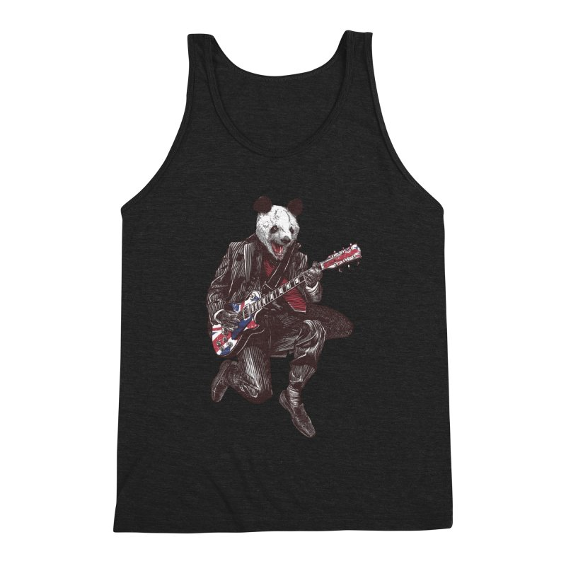 panda guitarist Men's Triblend Tank by gupikus's Artist Shop
