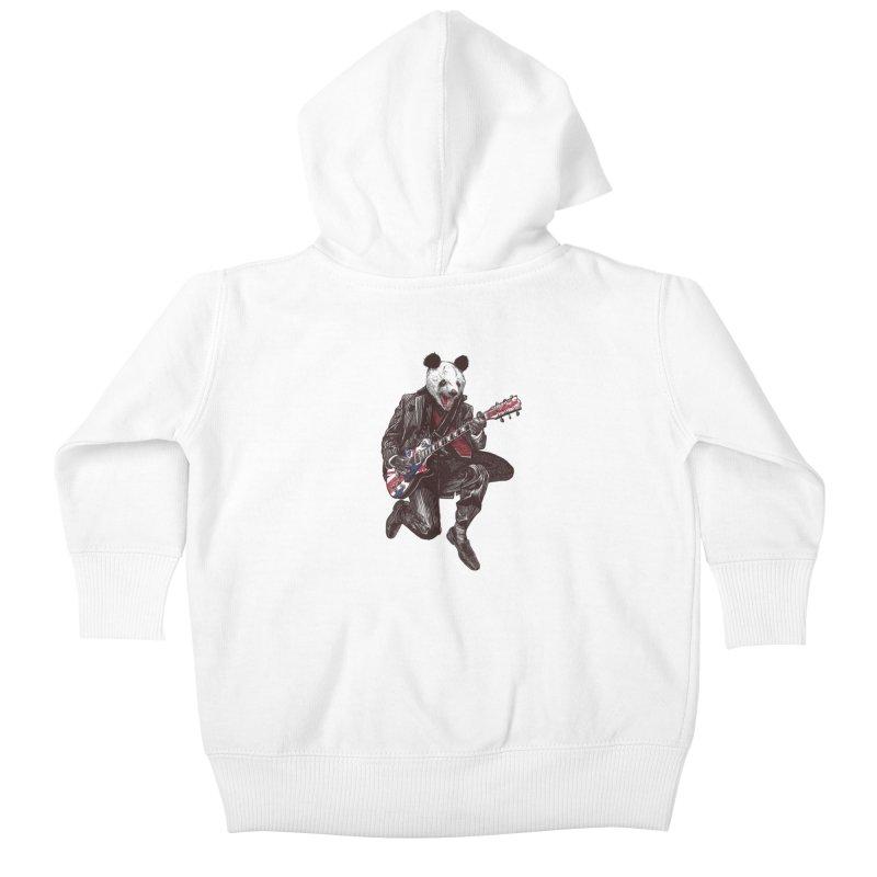 panda guitarist Kids Baby Zip-Up Hoody by gupikus's Artist Shop