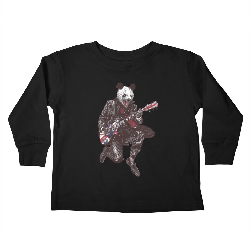 panda guitarist Kids Toddler Longsleeve T-Shirt by gupikus's Artist Shop