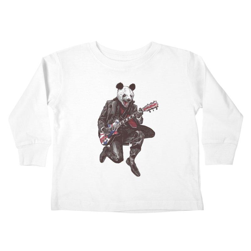 panda guitarist Kids Toddler Longsleeve T-Shirt by gupikus's Artist Shop