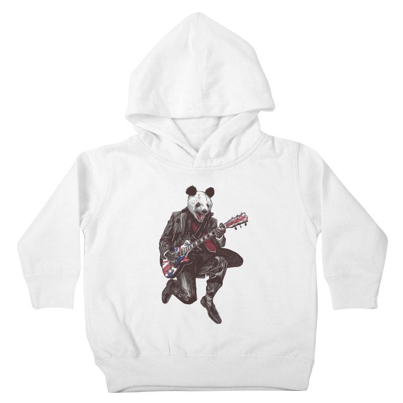 panda guitarist Kids Toddler Pullover Hoody by gupikus's Artist Shop
