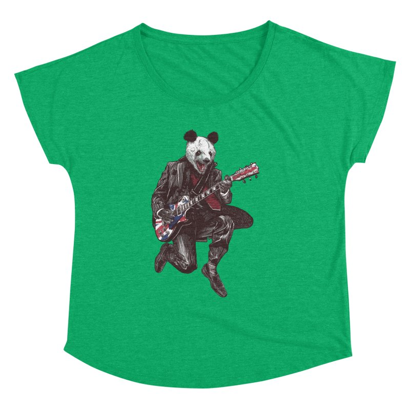 panda guitarist Women's Dolman Scoop Neck by gupikus's Artist Shop