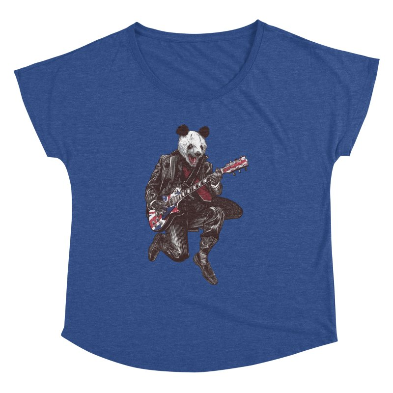 panda guitarist Women's Dolman Scoop Neck by gupikus's Artist Shop