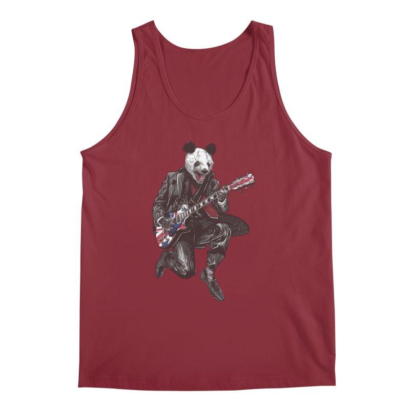 panda guitarist Men's Regular Tank by gupikus's Artist Shop