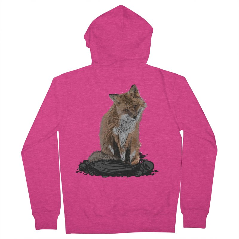 wolves Women's French Terry Zip-Up Hoody by gupikus's Artist Shop