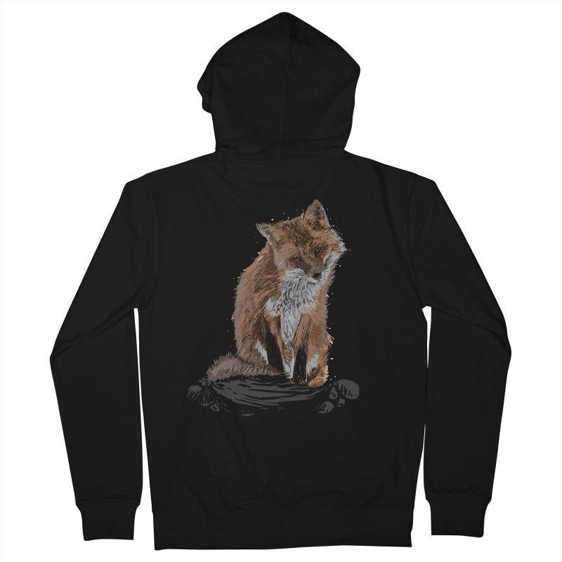 wolves Men's Zip-Up Hoody by gupikus's Artist Shop