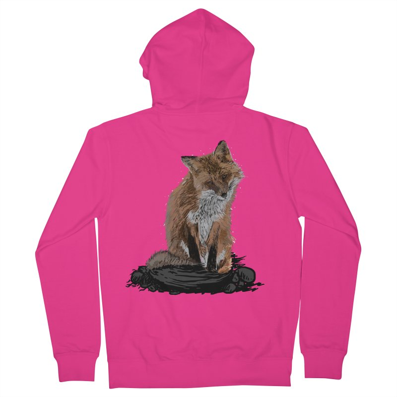 wolves Men's French Terry Zip-Up Hoody by gupikus's Artist Shop