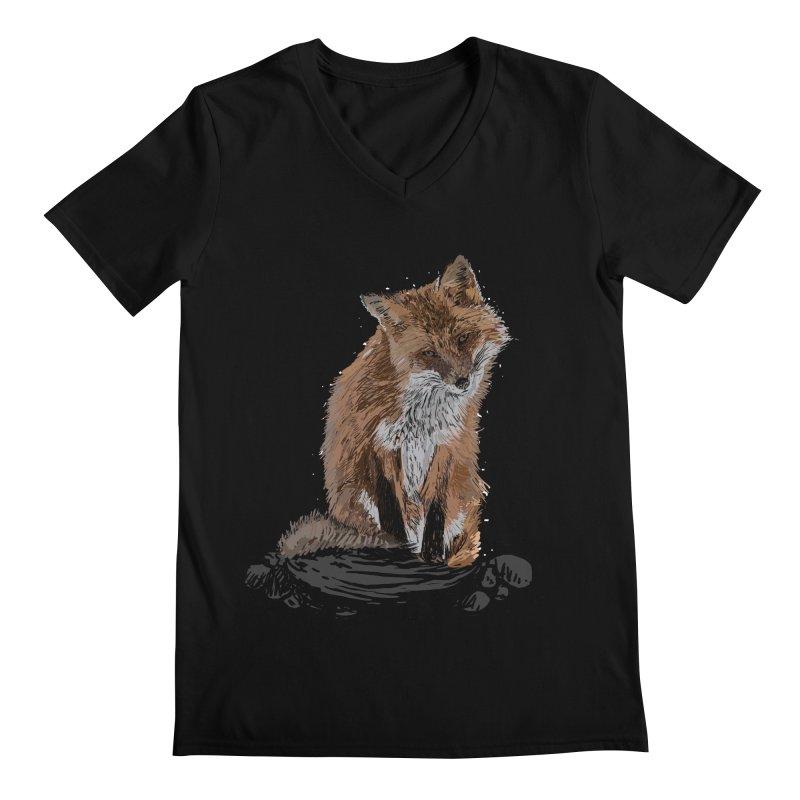 wolves Men's Regular V-Neck by gupikus's Artist Shop