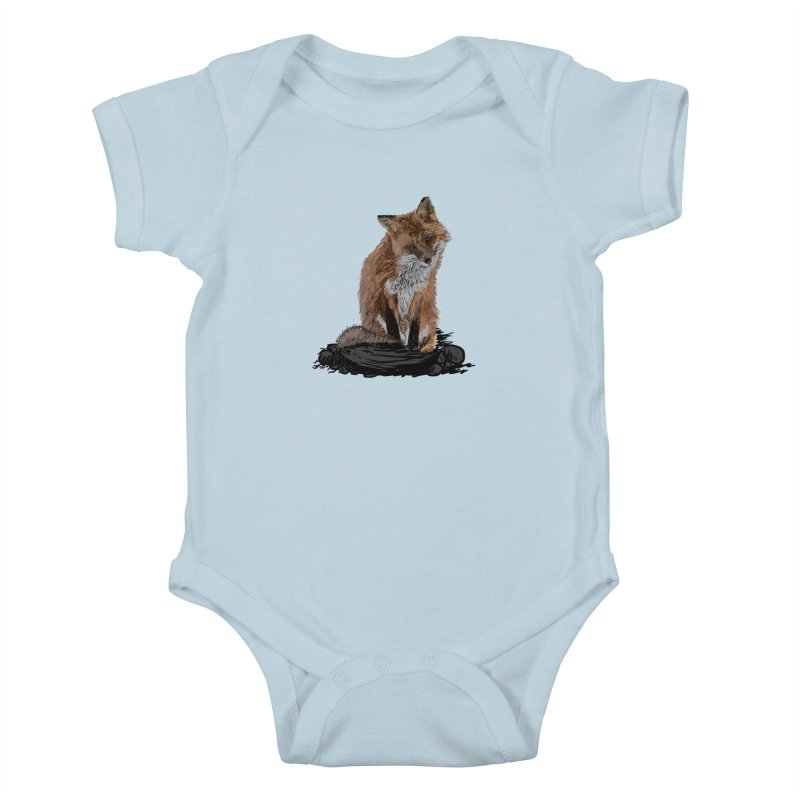 wolves Kids Baby Bodysuit by gupikus's Artist Shop