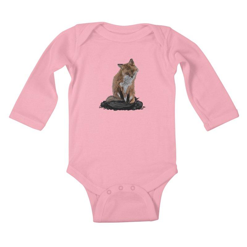 wolves Kids Baby Longsleeve Bodysuit by gupikus's Artist Shop