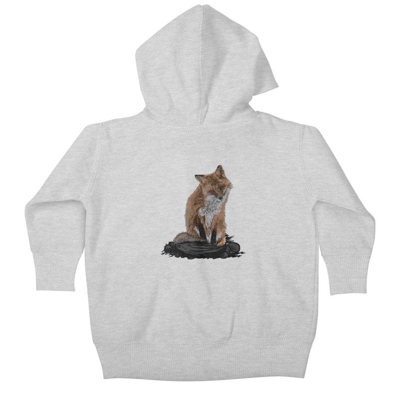 wolves Kids Baby Zip-Up Hoody by gupikus's Artist Shop