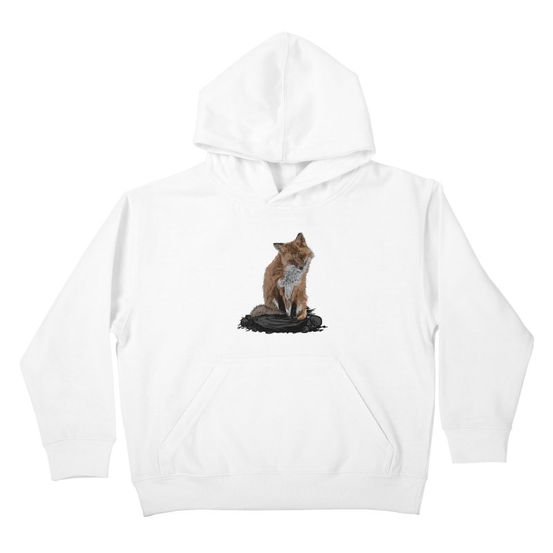 wolves Kids Pullover Hoody by gupikus's Artist Shop