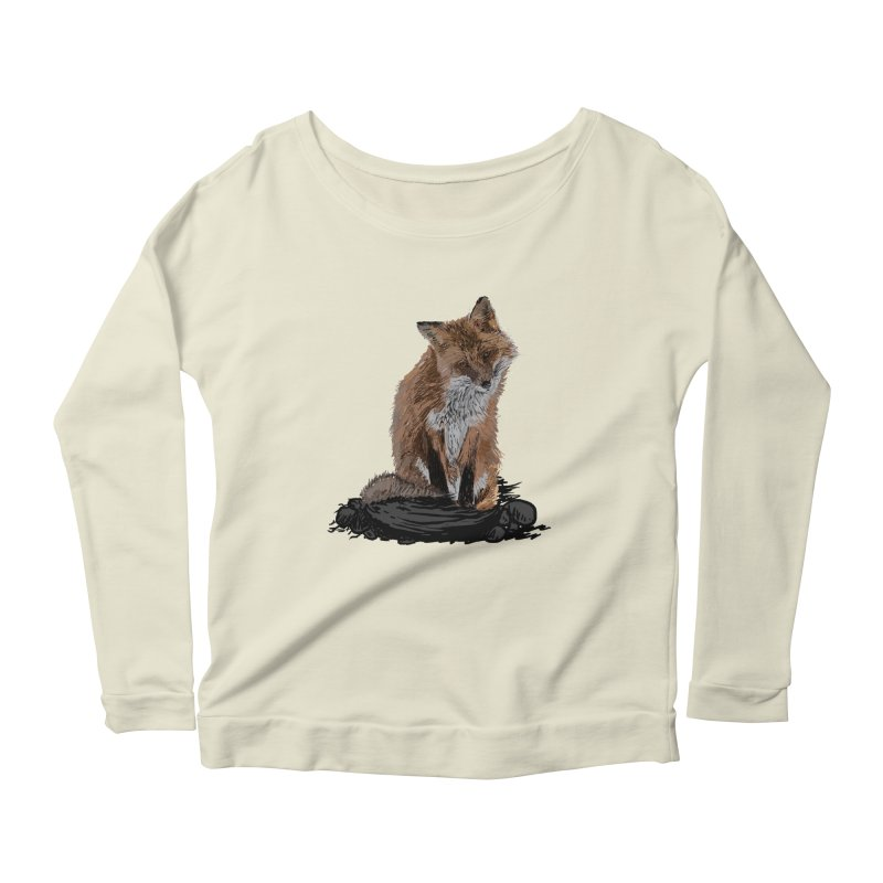 wolves Women's Scoop Neck Longsleeve T-Shirt by gupikus's Artist Shop
