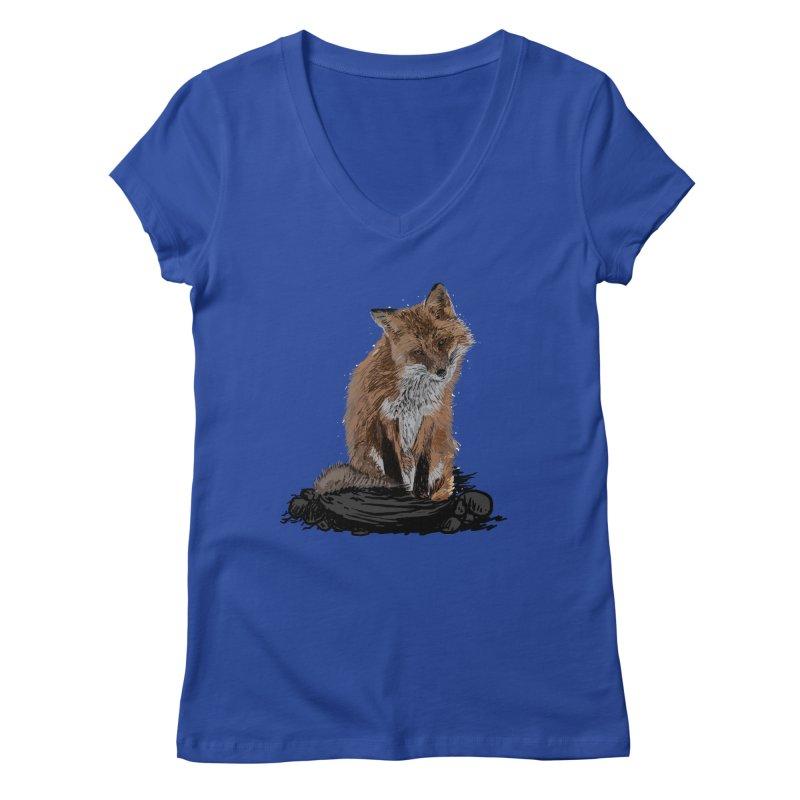 wolves Women's Regular V-Neck by gupikus's Artist Shop
