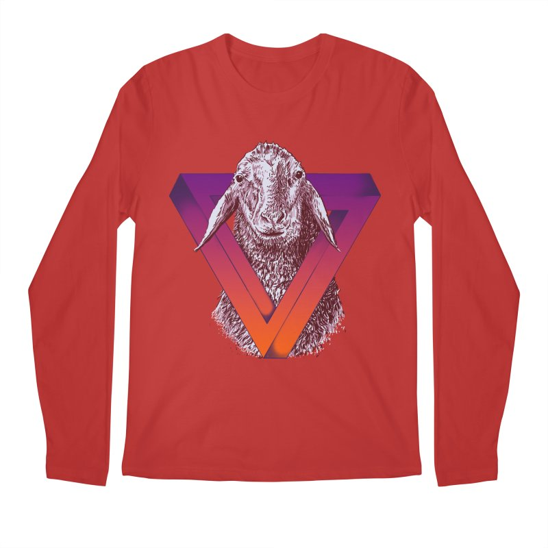 goat Men's Regular Longsleeve T-Shirt by gupikus's Artist Shop