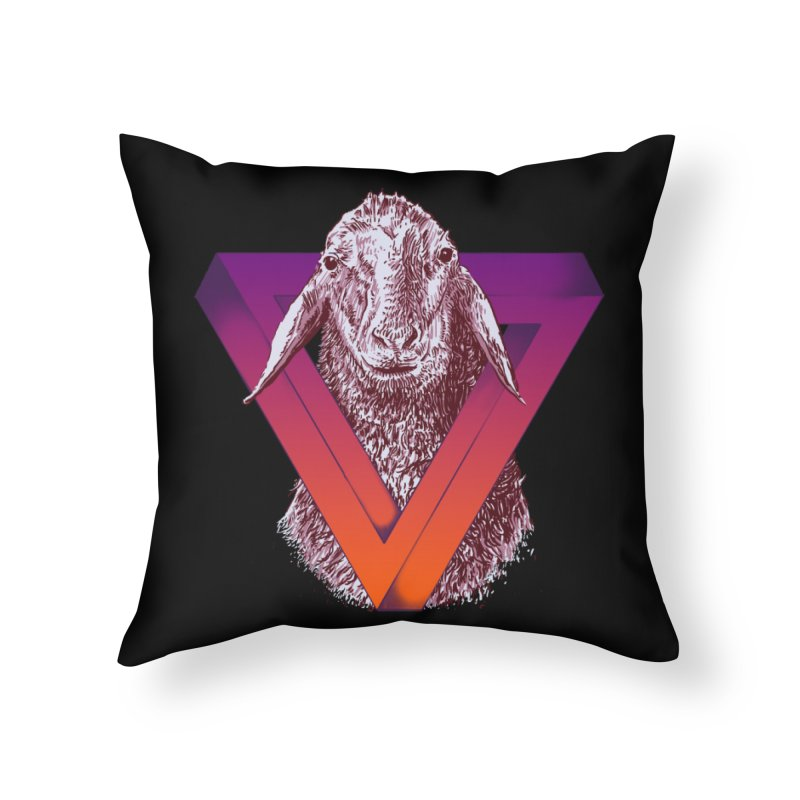 goat Home Throw Pillow by gupikus's Artist Shop