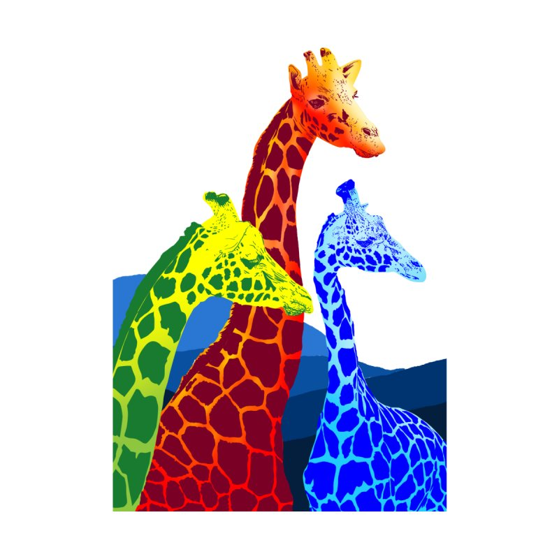 giraffe fams Men's Sweatshirt by gupikus's Artist Shop