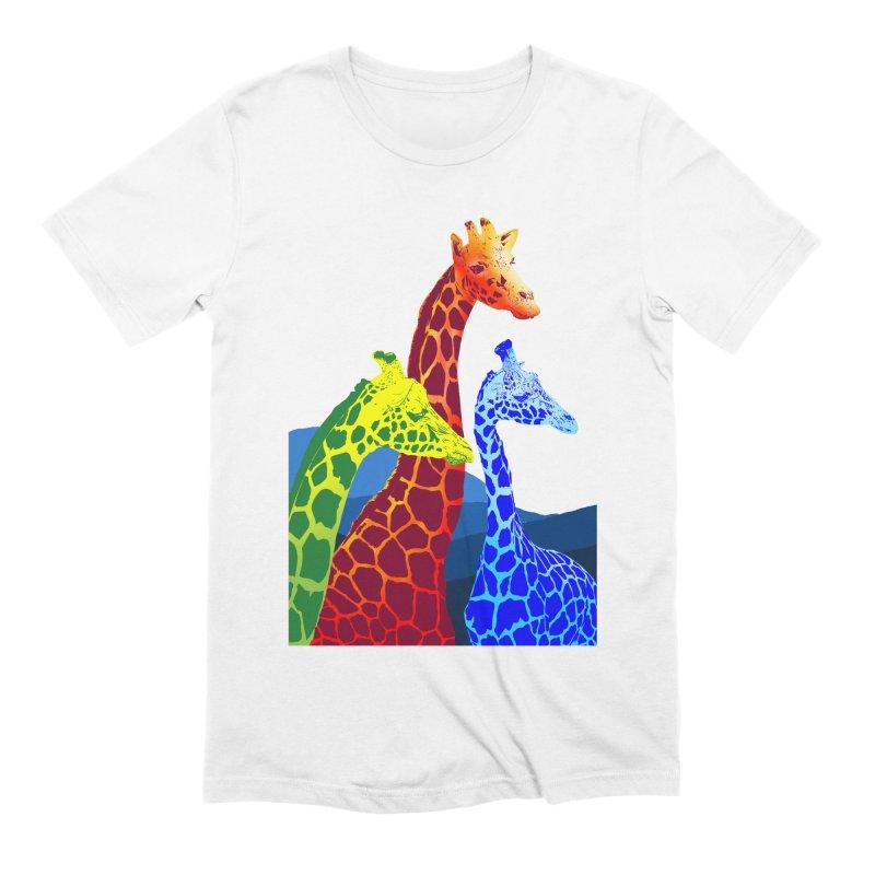 giraffe fams Men's Extra Soft T-Shirt by gupikus's Artist Shop
