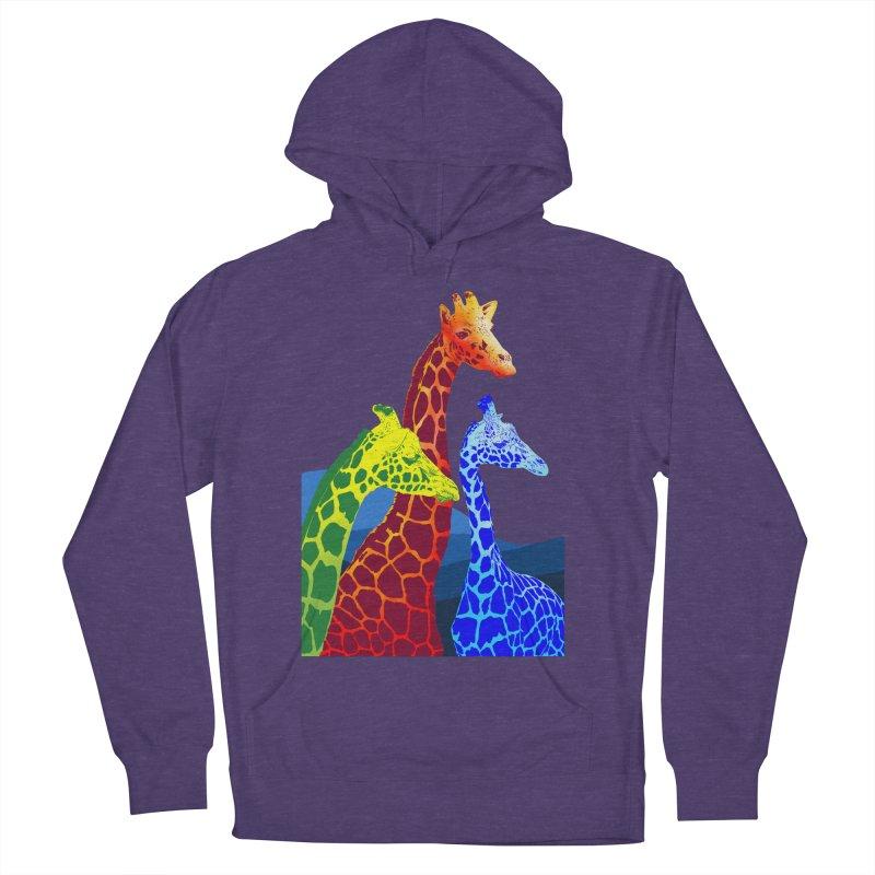 giraffe fams Women's French Terry Pullover Hoody by gupikus's Artist Shop