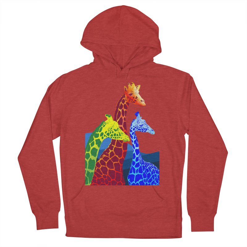 giraffe fams Men's French Terry Pullover Hoody by gupikus's Artist Shop