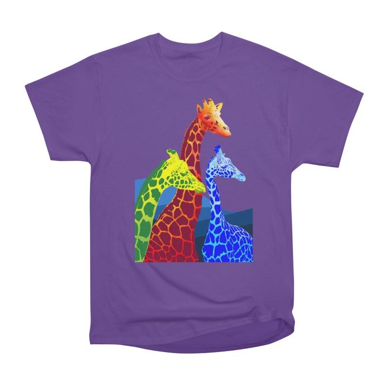 giraffe fams Women's Heavyweight Unisex T-Shirt by gupikus's Artist Shop