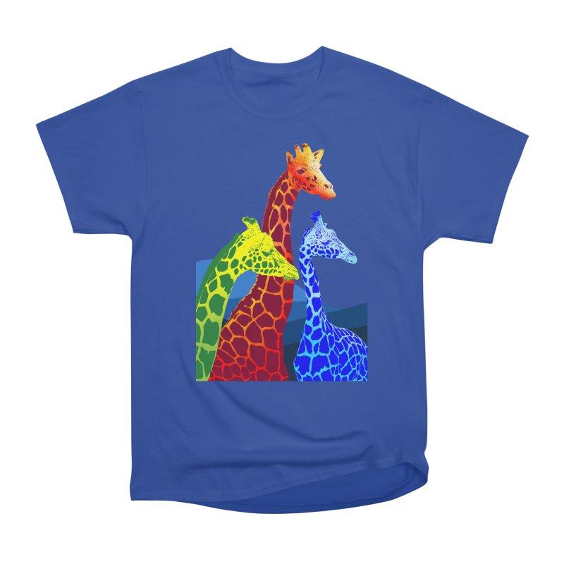 giraffe fams Men's Heavyweight T-Shirt by gupikus's Artist Shop