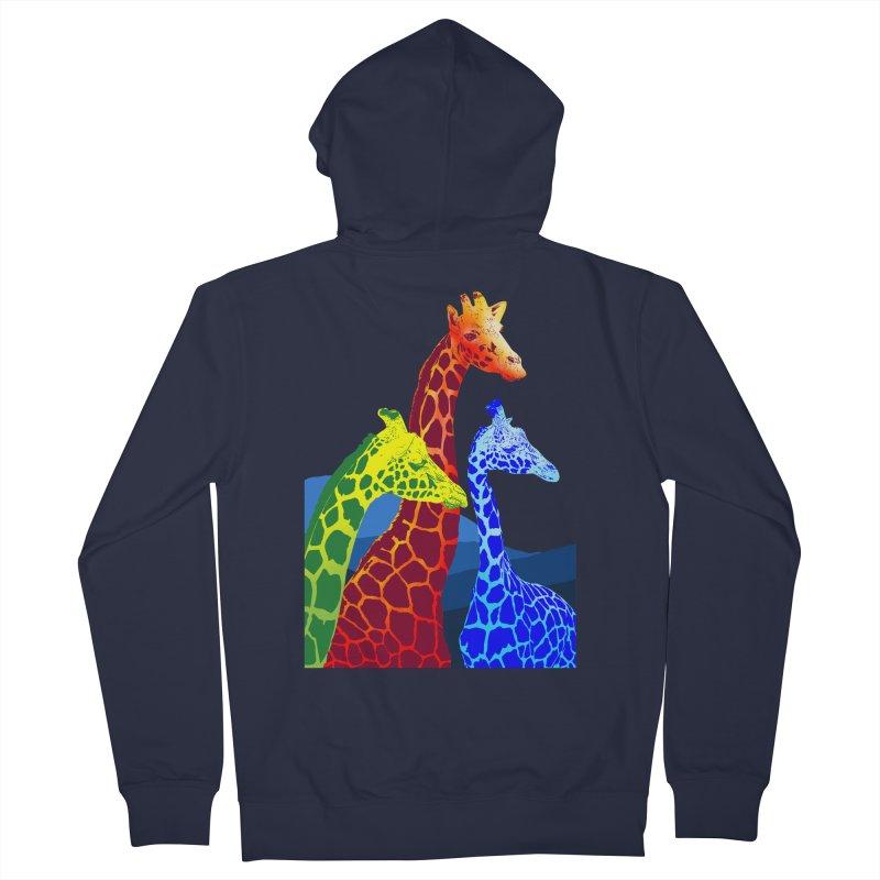 giraffe fams Men's French Terry Zip-Up Hoody by gupikus's Artist Shop