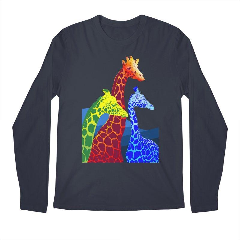 giraffe fams Men's Regular Longsleeve T-Shirt by gupikus's Artist Shop