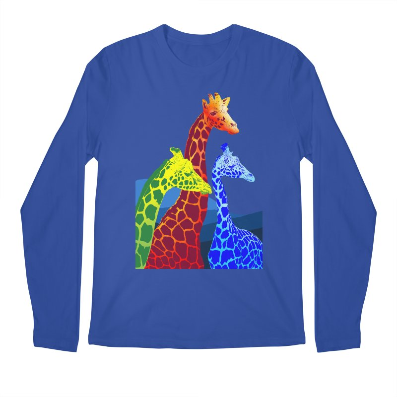 giraffe fams Men's Regular Longsleeve T-Shirt by gupikus's Artist Shop