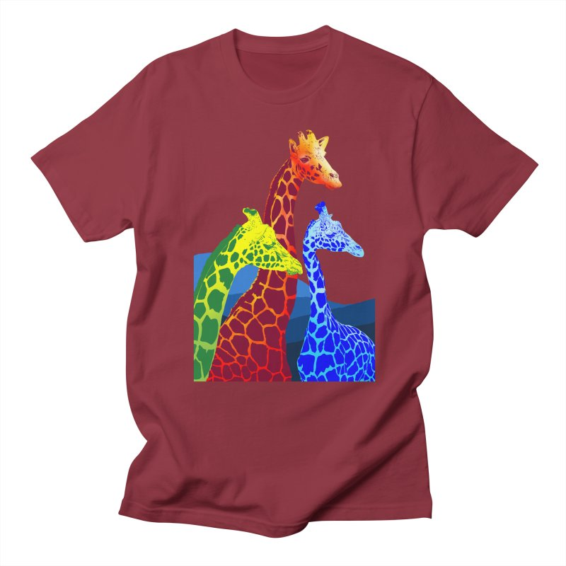giraffe fams Men's Regular T-Shirt by gupikus's Artist Shop