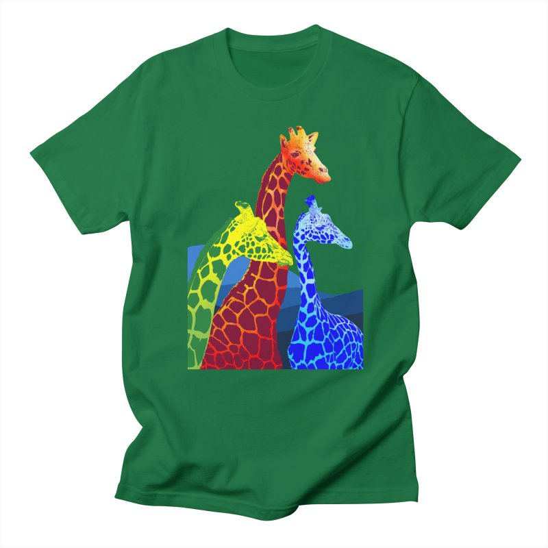 giraffe fams Women's Regular Unisex T-Shirt by gupikus's Artist Shop
