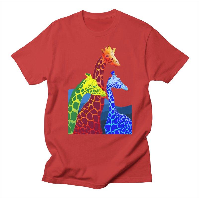 giraffe fams Women's Unisex T-Shirt by gupikus's Artist Shop