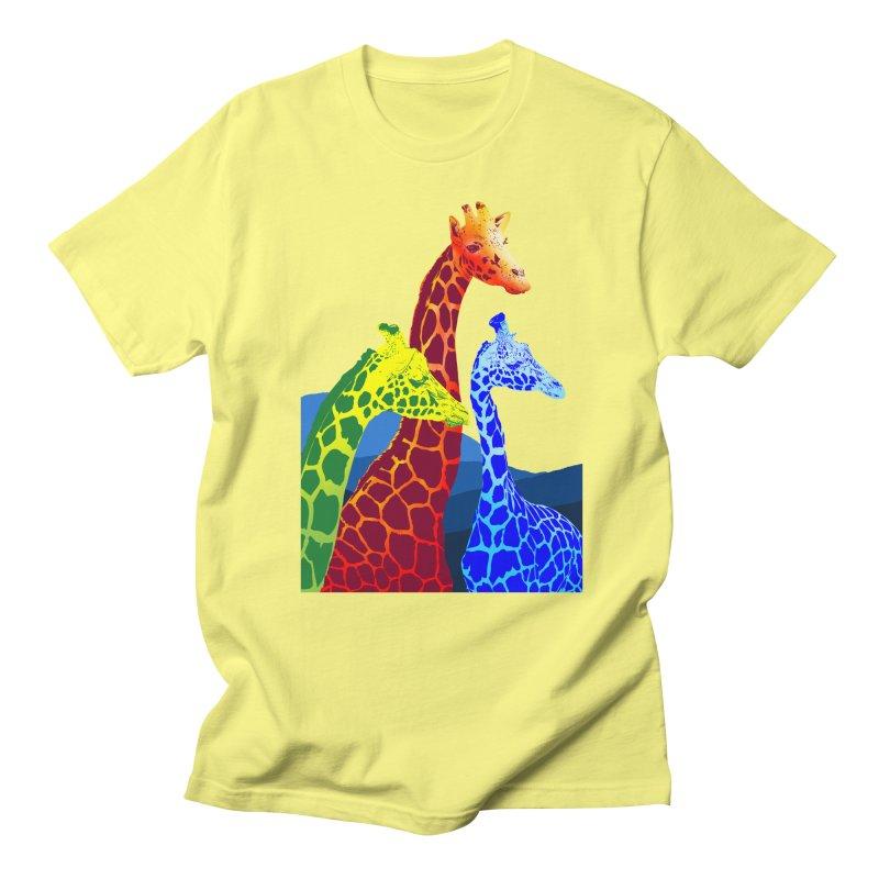 giraffe fams Men's Regular T-Shirt by gupikus's Artist Shop